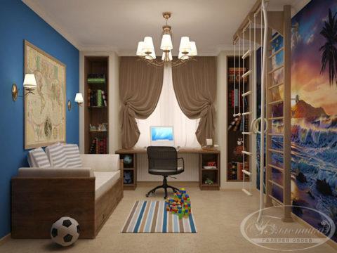 Детские обои: целый мир вместо собственной комнаты