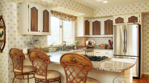 Обои для кухни: практичность превыше всего