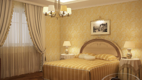Обои для спальни: цвет диктует настроение
